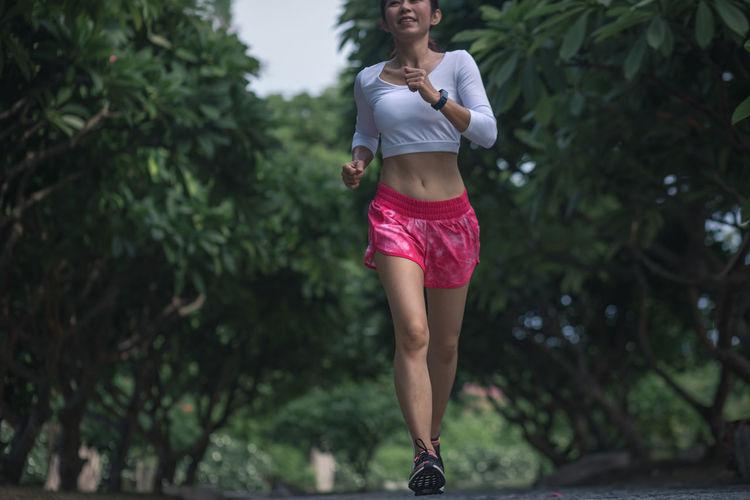 Full length of woman walking outdoors