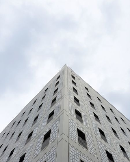 Look up! Triangle Shape Modern Architecture Low Angle View Built Structure Sky No People Day Building Exterior Travel Destinations Pyramid Windows Wanderlust Full Frame Façade EyeEm Best Shots Library Lookingup Minimalism Urban Geometry Moody Symmetry City Vanishing Point The Architect - 2017 EyeEm Awards