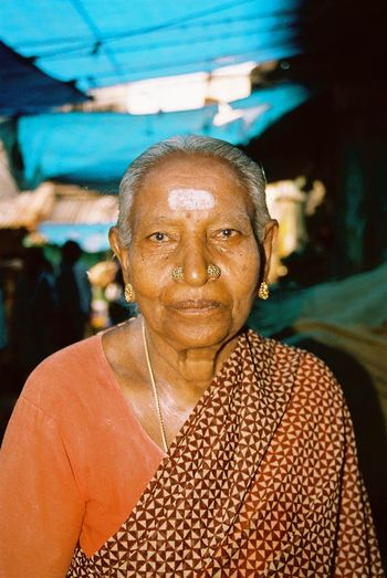 Analogue Photography Blue Shades Faces Of India Human Face Minolta Dynax 505si People Of India Portrait Through India 2008 Woman Portrait Woman Who Inspire You Natural Light Portrait