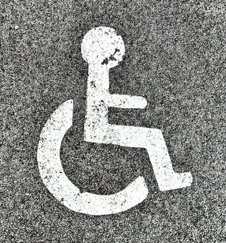 Disability Differing Abilities Disabled Sign Close-up No People Outdoors Wheelchair Access Wheelchair Disabled Handicap Discrimination Asphalt Street Signs Streetphotography