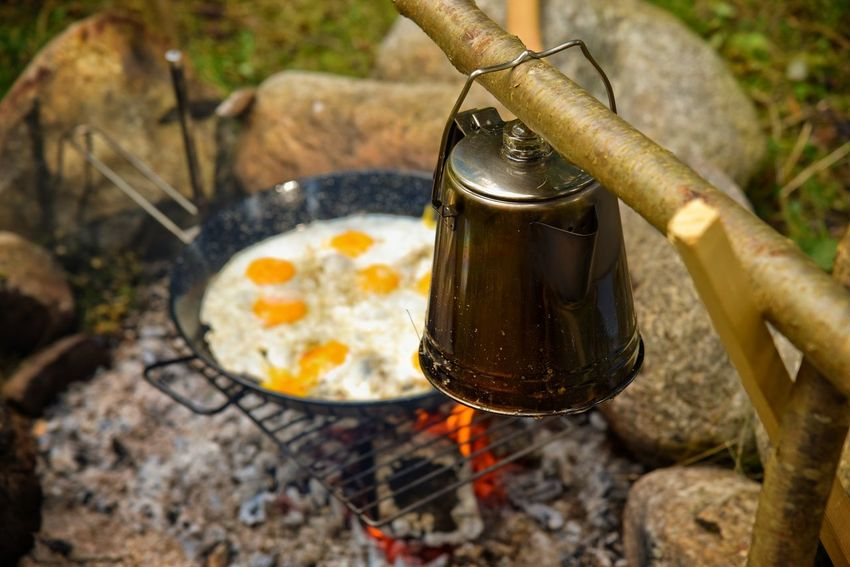 Breakfast Campfire Coffee Fried Egg Lifestyle Morning Close-up Fire Food Food And Drink Freshness Getting Away From It All Getting Inspired Outdoors The Great Outdoors - 2018 EyeEm Awards