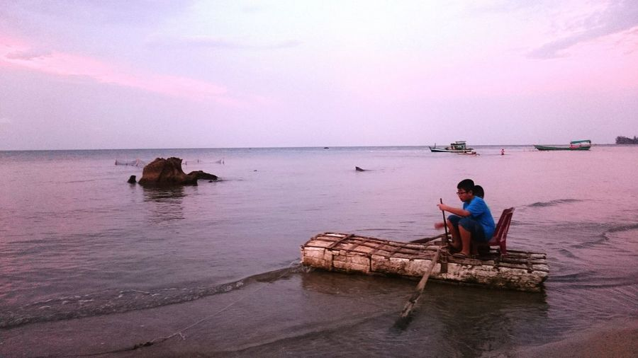 Phu Quoc Vietnam Traveling Beach Travel People Fishing Village Landscape