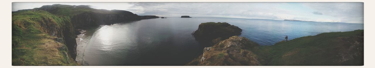 A bit of the Antrim coast Coast Sea Cliffs Panorama
