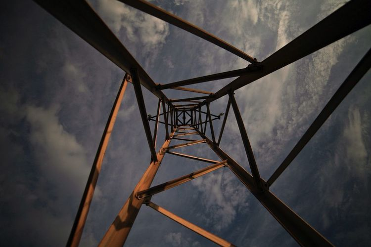 Electric Tower  Sky Out Fine Art Photography
