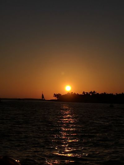 Sunset at Mallory Square in the Florida Keys. Ocean Florida Keys Mallory Square Water Nautical Vessel Sea Sunset Beauty Silhouette Sun Sailing Reflection