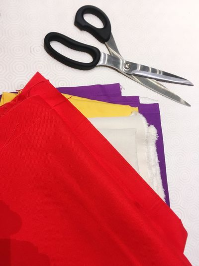 Sunday sewing White Purple Yellow Scissors Clothing Fashion Tailor Textile Industry Clothing Store Textile Red Sewing