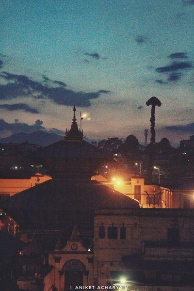 Beautiful Evening View of Pashupatinath Temple, Nepal Sky Sunset Travel Destinations Kathmandu City Nepal World Heritage Temple Nepal Travel Nepal8thwonder Nepalese Beauty Heritage Site Beautiful Nepal Pashupatinath Pashupatinath Temple