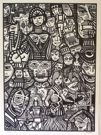 A 20x30 inch marker drawing. My labor on Lanor Day Art Drawing Marker Art Sketch
