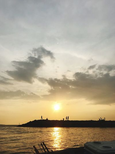 Sunset from jetty Umbai, Malacca Sunset Sky Water Silhouette Beauty In Nature Sea Cloud - Sky Nature Scenics Sun Outdoors No People Beach Nautical Vessel Horizon Over Water Architecture Day