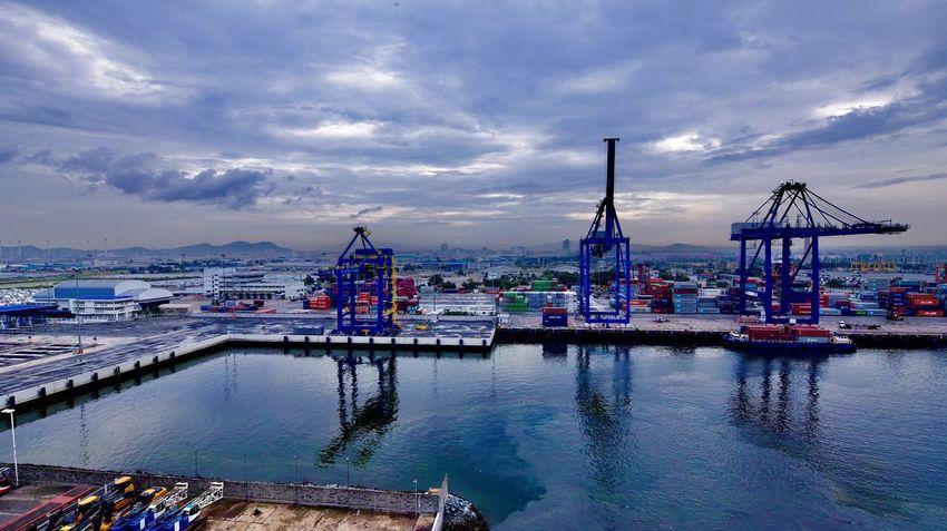 港湾的早晨
