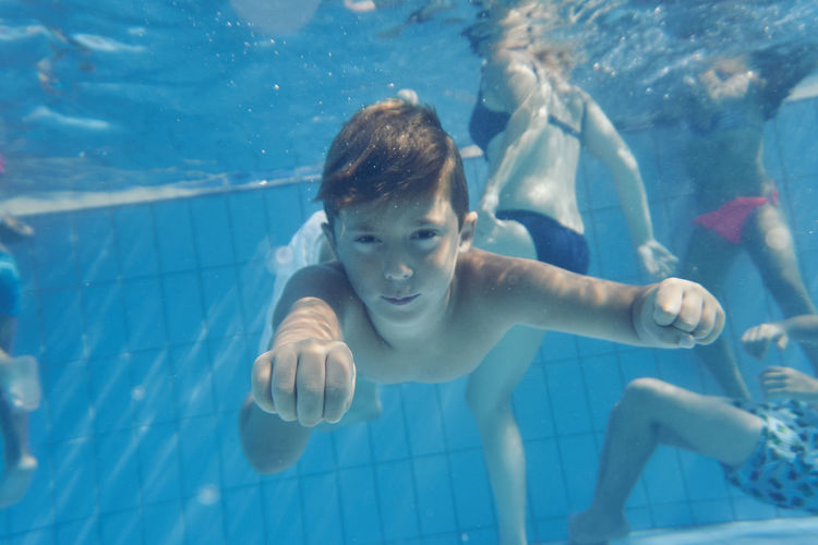 Animal Themes Aquarium Boys Child Childhood Children Only Close-up Day Leisure Activity One Boy Only One Person Outdoors People Portrait Real People Shirtless Swimming Swimming Pool UnderSea Underwater Water The Week On EyeEm