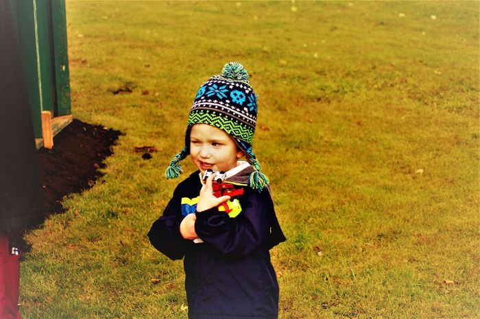 Autumn Day Child Childhood Day Grass Havig Fun One Person Outdoors