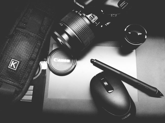 My tools for my craft! Black Color Indoors  Shiny Close-up Wacom Tablet Canon550D Canont2irebel