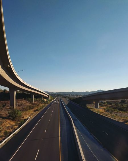 Road Highway Transportation The Way Forward Bridge - Man Made Structure Connection Day No People Architecture Outdoors Clear Sky Sky Landscape