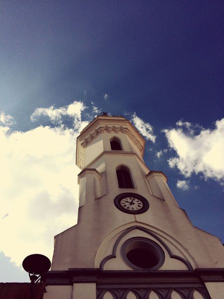 Religion Sky Low Angle View Spirituality Cloud - Sky Architecture art oOutdoorscClock TowernNo PeopledDaybBell Tower First Eyeem Photo