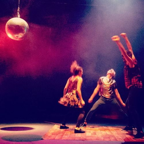Dance till you die! Disco fever, the 80s is back! Danceperformance Art Discoball Vienna