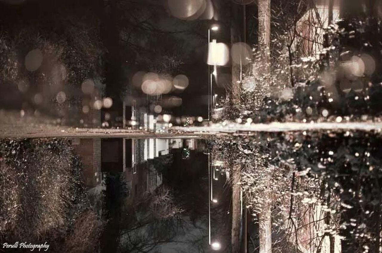 VIEW OF ILLUMINATED LAMP POST