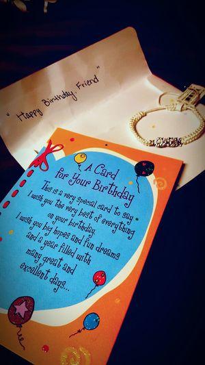 Happy birthday!! Birthday Present Birthdaycard Bracelet ♥
