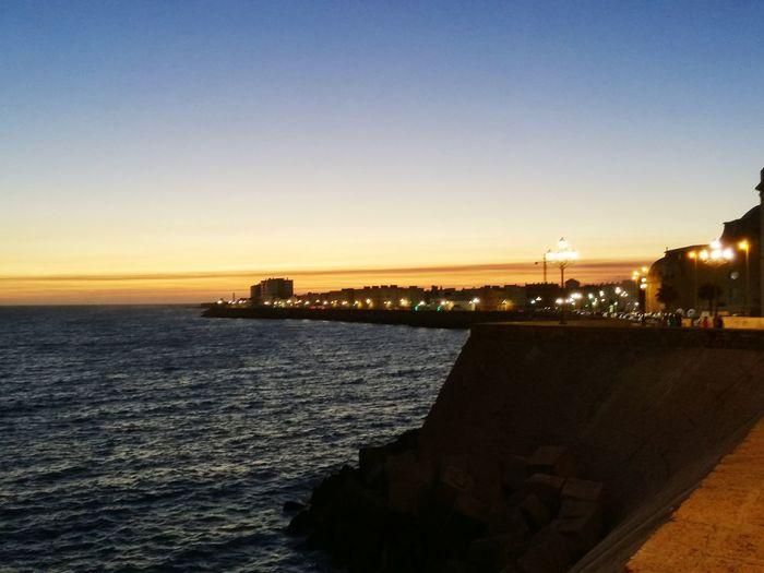 Spain ✈️🇪🇸 Spain, Andalucia Andalusie Paisaje Paysage Cadiz Cadix See Front Espagne Mar Puerto Mer Port Soir D'été Nightphotography Coucher De Soleil Nuit