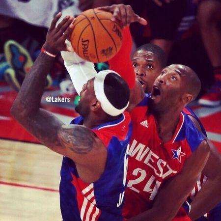 ....And Kobe blocks Lebron at the Allstar game