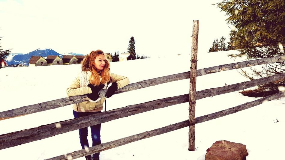 #snow #Nature  #outfit Winter Outdoors Looking At Camera Portrait Day First Eyeem Photo