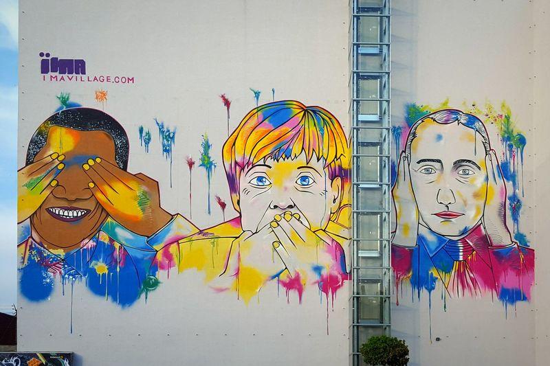 Political Street Art Political Caricature CMYK