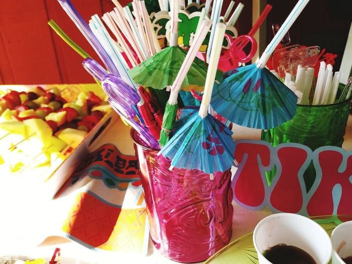 Multi Colored Variation Choice Indoors  Celebration No People Day Close-up Food Party Time Birthday Party Taking Photographs Love To Take Photos ❤ Straws Fun Party Favors Lets Drink Time To Party ✌ Photography Austin TX Birthday Bash Party Decoration Party Time!! Lets Party Hard  Part Time:)