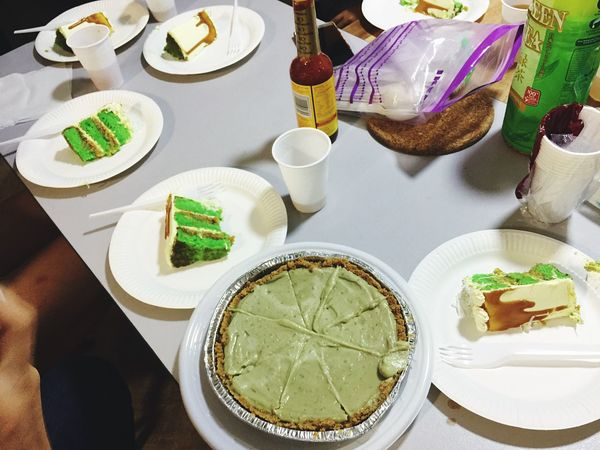 Green Desserts Ondeh Ondeh Cake Pandan Gulamelaka Avocado Pie Endofyear Gathering Food And Drink Table