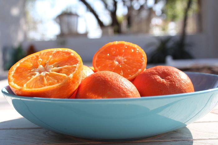 Fruit Citrus  Oranges Mandarins Clementines Table Healthy Eating Freshness Citrus Fruit Close-up Sunshine Garden Plate Snack Healthy