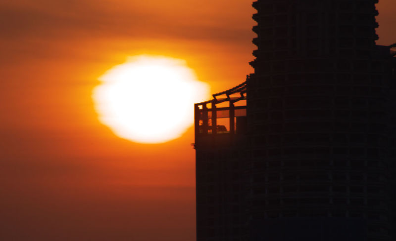 Bangkok Facing East No People Orange Color Outdoors Silhouette Sky Solar Sun Sunrise Thailand