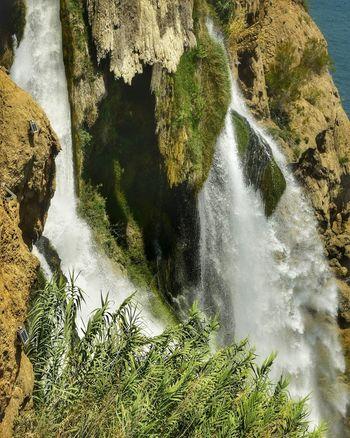 Antalya Selale Waterfall Wasserfall Wetter Meer Tree Water High Angle View Motion Sky Falling Water Flowing Flowing Water Stream - Flowing Water