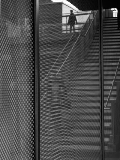 reflections on a shop window Architecture Black And White Blackandwhite Reflection Stairs Street Photography Streetphotography Window