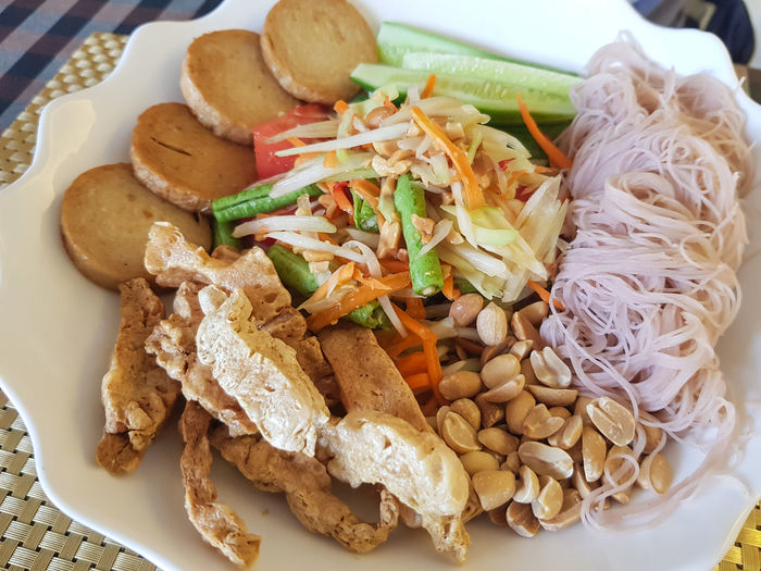 Cayenne Pepper Cooking Delicious ♡ Stir-fried Cayenne Peppers Delicious Food And Drink Freshness Healthy Eating Pad Thai Noodles Peanuts 🥜 Ready-to-eat Thai Food Vegetable Vegetarian Food Concept