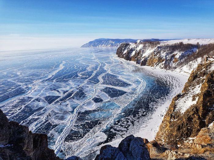 Baikan Lake Baikan Lake Freeze Lake Russia Water UnderSea Pixelated Sea Blue Sky Coast Horizon Over Water Ocean Seascape