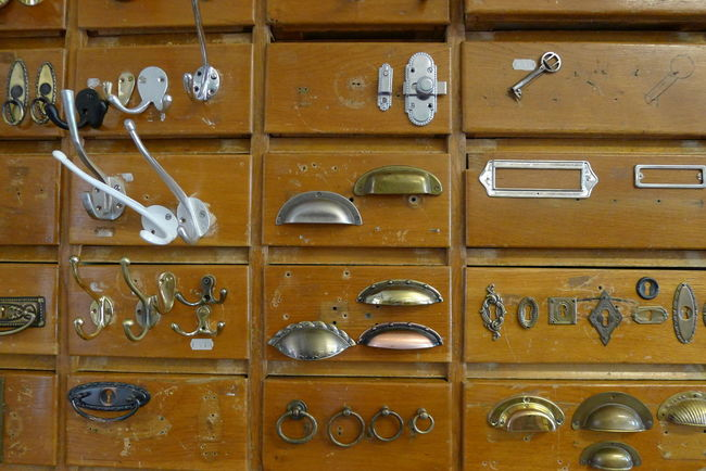 Bookfittings Compartment Day Drawers Fittings Full Frame Hardware In A Row Indoors  Locker Locker Room Metall Fittings No People Pigeonhole Wood - Material