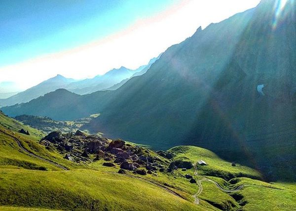 Hiking in Adelboden with the Legendary Grandpa HARI Mountains Alps Shadows Misty MistyMountains Switzerland Beautiful Gorgeous Breathtaking Glorious Village Sun Rays Skies Wowed