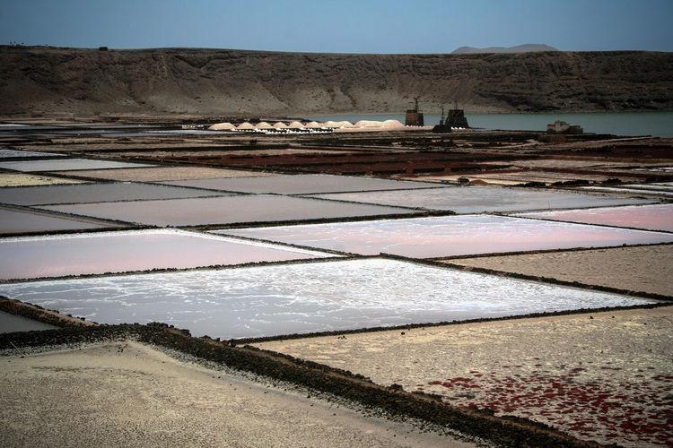 Salt farm at shore