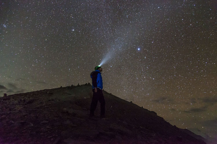 Annapurna Track Nepal - Seeking the stars Adult Adventure Astronomy Dark Discovery Ethereal Flashlight Galaxy Landscape Looking Up Man Milky Way Nature Night Only Men Outdoor Pursuit People Sky Space Space And Astronomy Star - Space Star Field Star Trail Traveling Watching