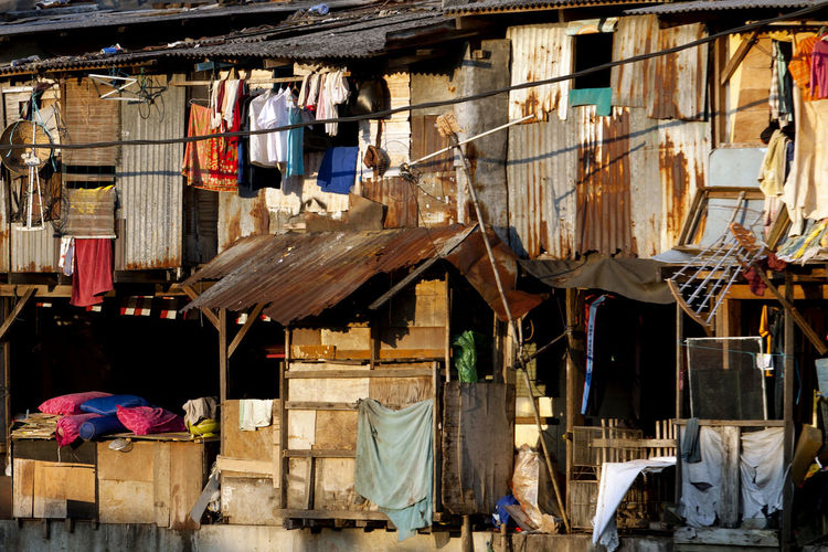 Shanty house Home Residential  Architecture Building Building Exterior Built Structure Developing Country Drying House Poverty Shantytown Slum Slum Area
