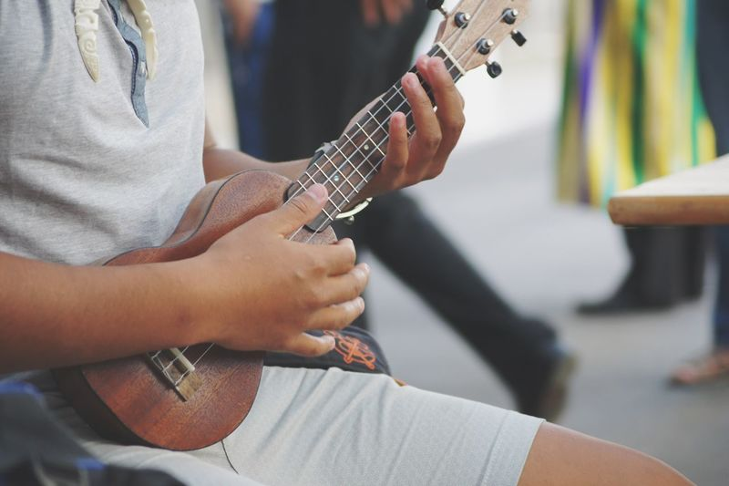 Music Midsection Musical Instrument Guitar Playing Human Hand Holding Real People Tahiti