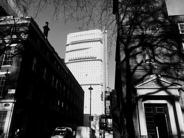 London Skyscraper Centrepoint Sohosquare Blackandwhite
