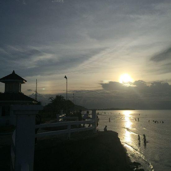 Sunset. Sunset Roxas City Baybay Beach Beach Sun Silhouette Water Capiz