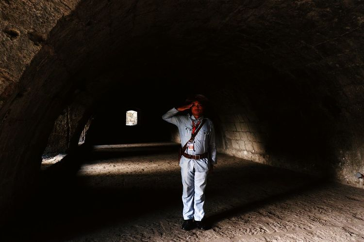 Back in time.. One Person Tunnel Torturetunnel Intramuros| Philippines Historicsite Asian  EyeEmNewHere Let's Go. Together. Sommergefühle EyeEm Selects
