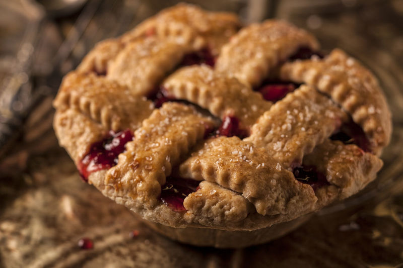 Fresh Cherry Pie Bake Brown Cherry Close-up Cookie Crust Dessert Fattening Food Freshness Gooey Homemade Indoors  Indulgence Lattice No People Pie Ready-to-eat Snack Sweet Food