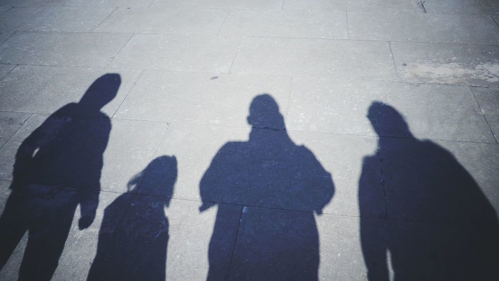 The Family Shadows Kids Family Time Family Matters People Shadow ShadowSelfie Human Shadows Shadow Focus On Shadow Sunlight Silhouette Togetherness Real People Men Day Outdoors Standing People Adult High Angle View