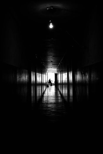 it's all personal. Indoors  The Way Forward Tunnel Illuminated Architecture One Person Silhouette Real People Built Structure Full Length Women Day People Asylum Seekers Refugee Refugee Camp Human Bnw Figure Human Figure EyeEm Best Shots EyeEm Selects Traditional Clothing Foreigner Unhcr