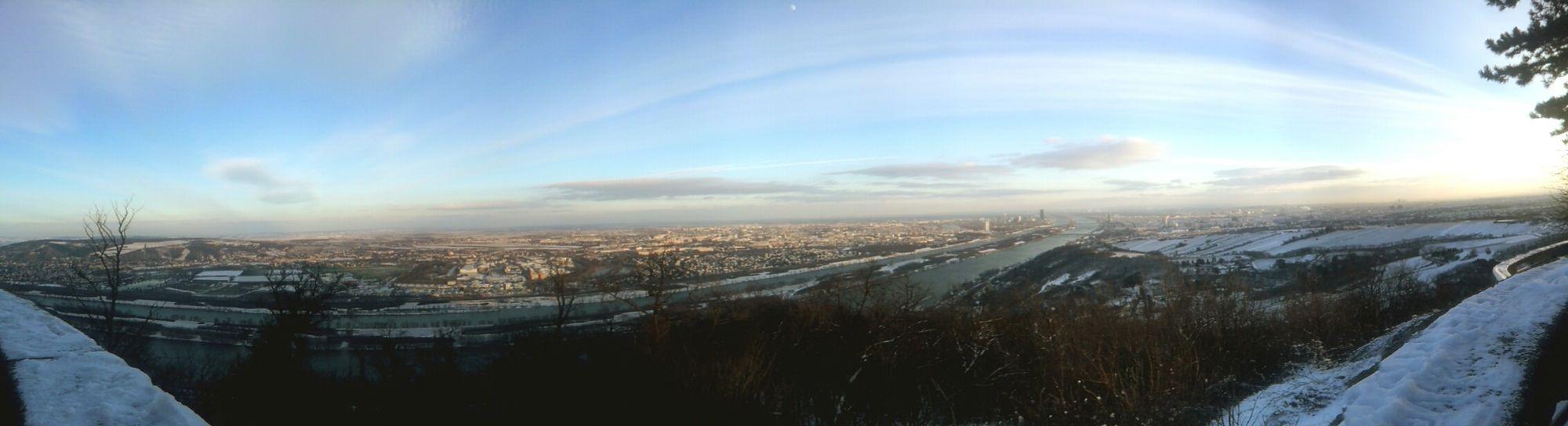 Vienna Panorama Snow Winter