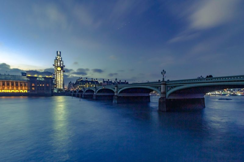 Westminster bridge at blue hour Light Trails London Westminster Bridge Westminster Canon Parliament House Of Parliament Big Ben City Cityscape Urban Skyline Water Illuminated Sunset Bridge - Man Made Structure Business Finance And Industry River Skyscraper Arch Bridge Long Exposure Light Trail Vehicle Light Waterfront