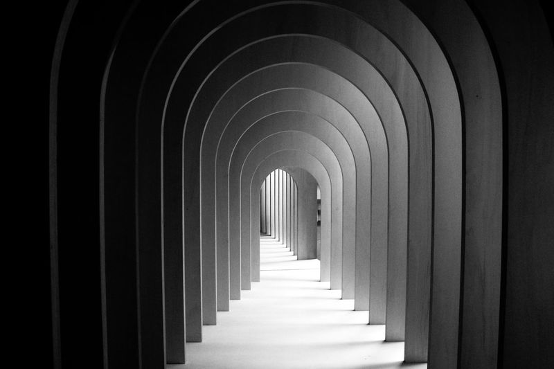 Absence Arcade Arch Architectural Column Architecture Biennale Building Built Structure Ceiling Colonnade Corridor Day Diminishing Perspective Direction Empty History In A Row Indoors  Light At The End Of The Tunnel No People Pattern Repetition The Past The Way Forward
