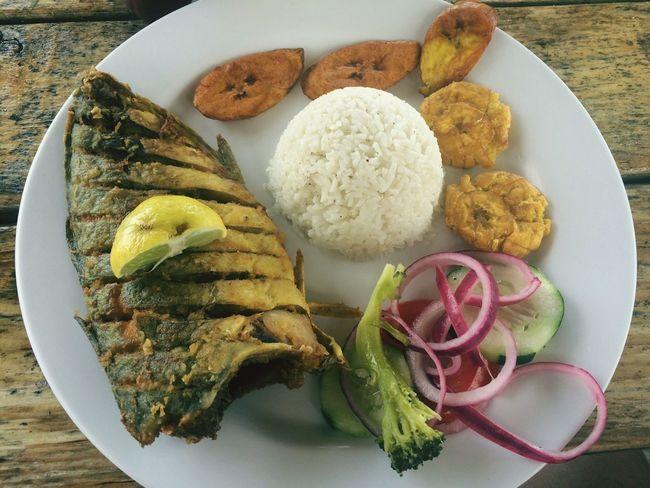 Plate Food Ready-to-eat Meat Seafoods Fish Local Food Kuna Yala San Blas Panamá